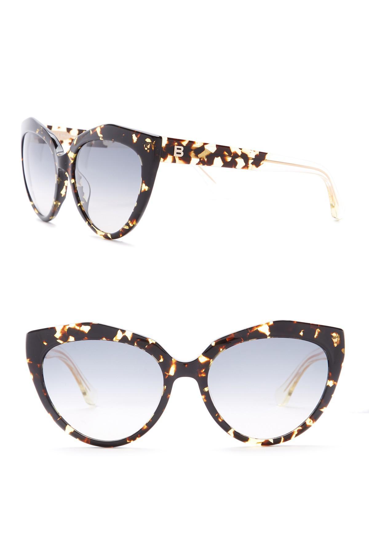 2b0aeb581f2 Lyst - Balenciaga Paris 56mm Sunglasses in Brown
