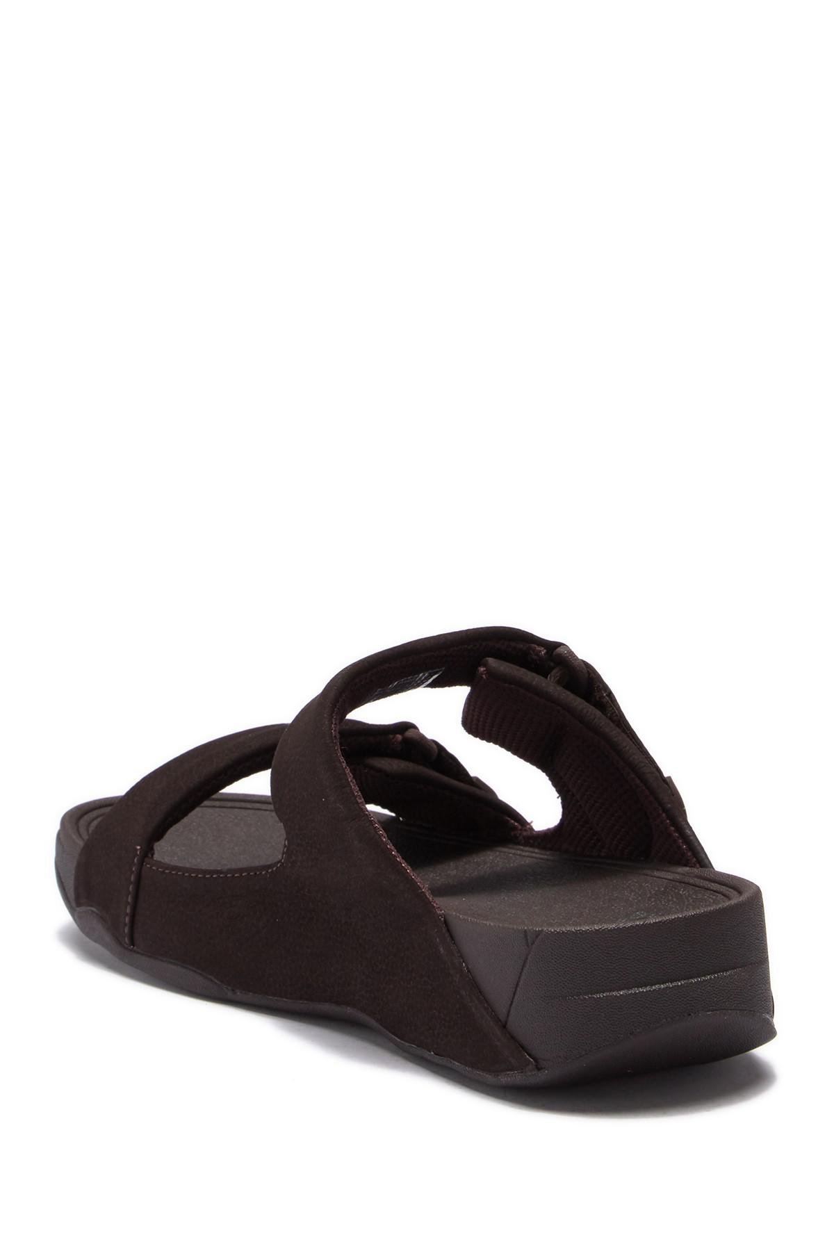 7924608cad3 Fitflop - Brown Gogh Moc Adjustable  s Slide Sandals for Men - Lyst. View  fullscreen