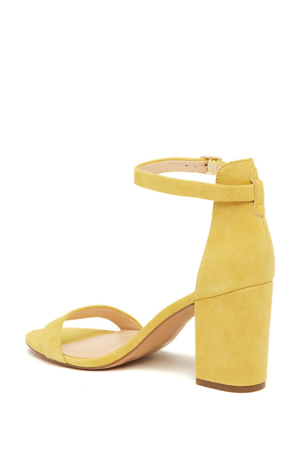 0386a21e3d8 Lyst - Vince Camuto Beah Block Heel Ankle Strap Sandal in Yellow