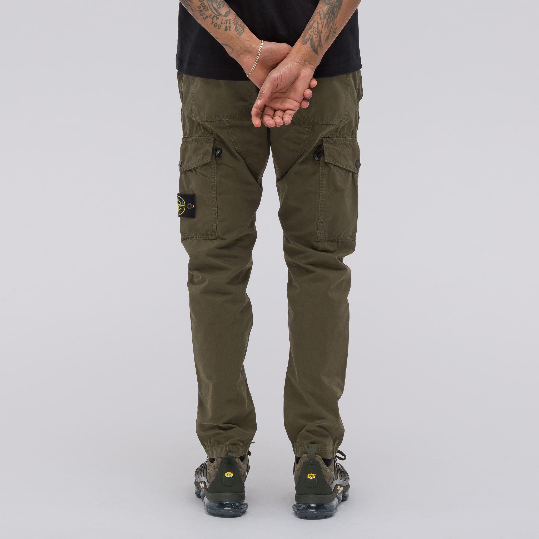 6d3de31196 Stone Island 314wa Tc+old Cargo Pant In Olive in Green for Men - Lyst