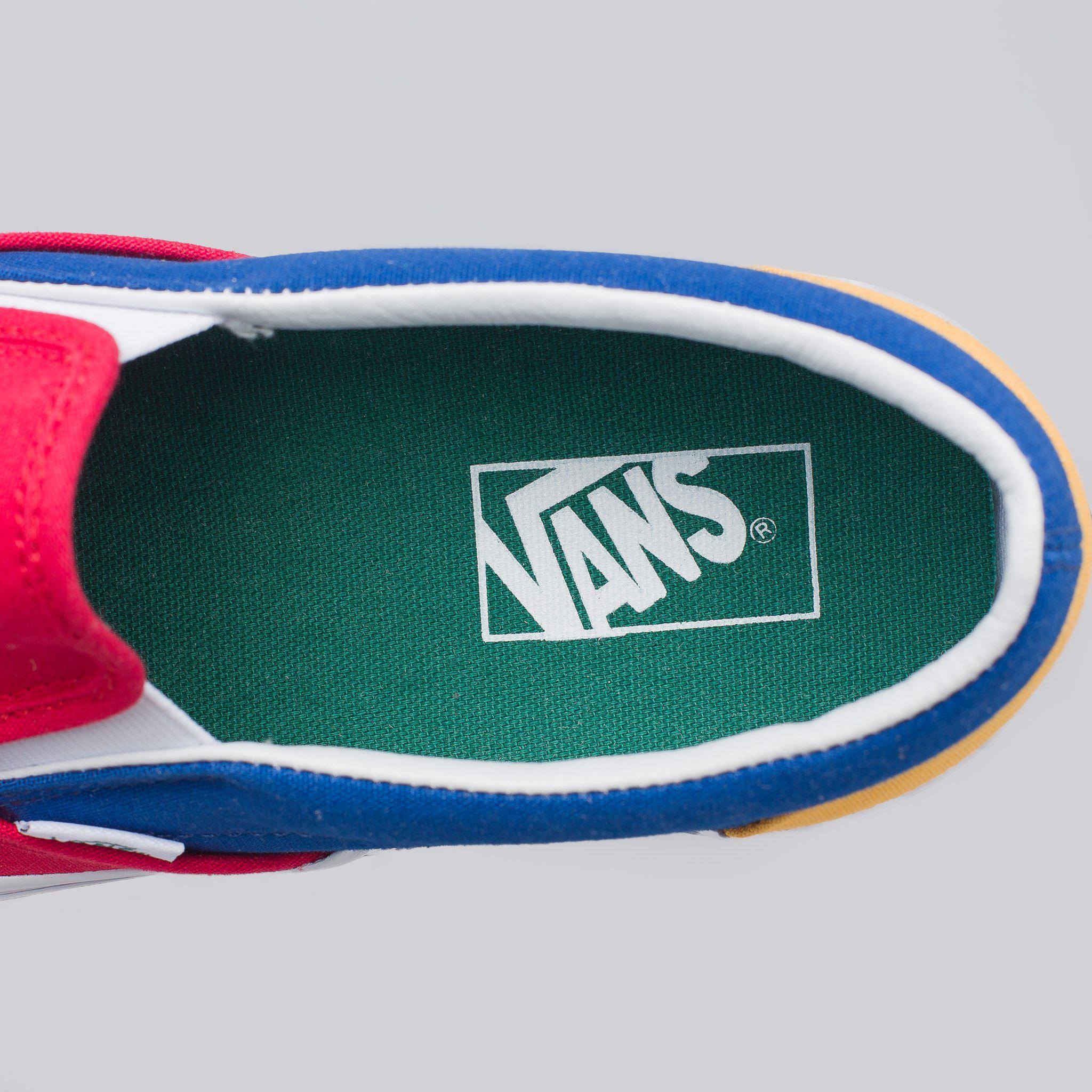 vans green blue yellow