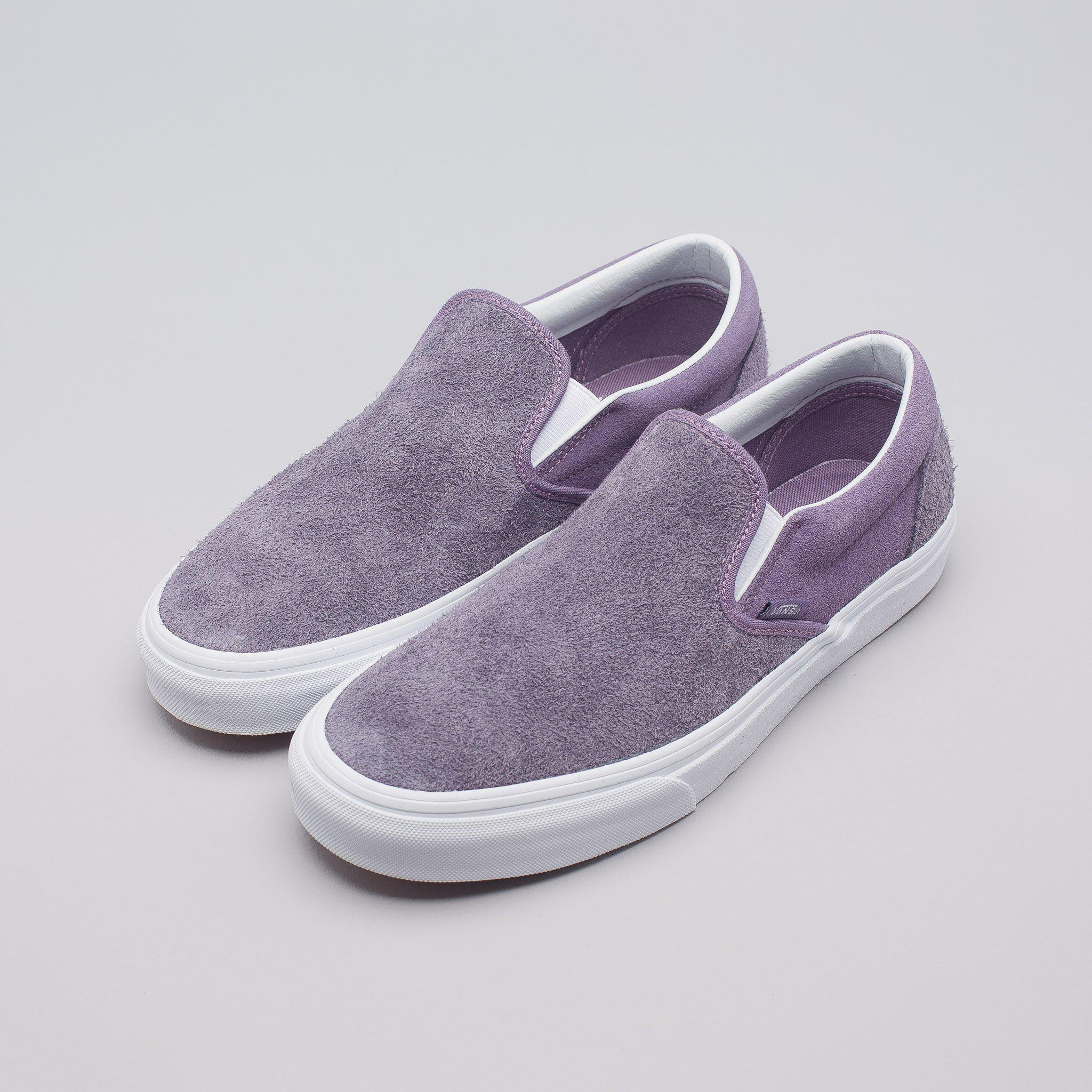 434ea93021c96a Lyst - Vans Classic Slip-on In Purple Hairy Suede in Purple for Men