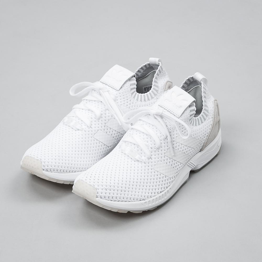 adidas Originals ZX Flux Primeknit Sneakers In Gray