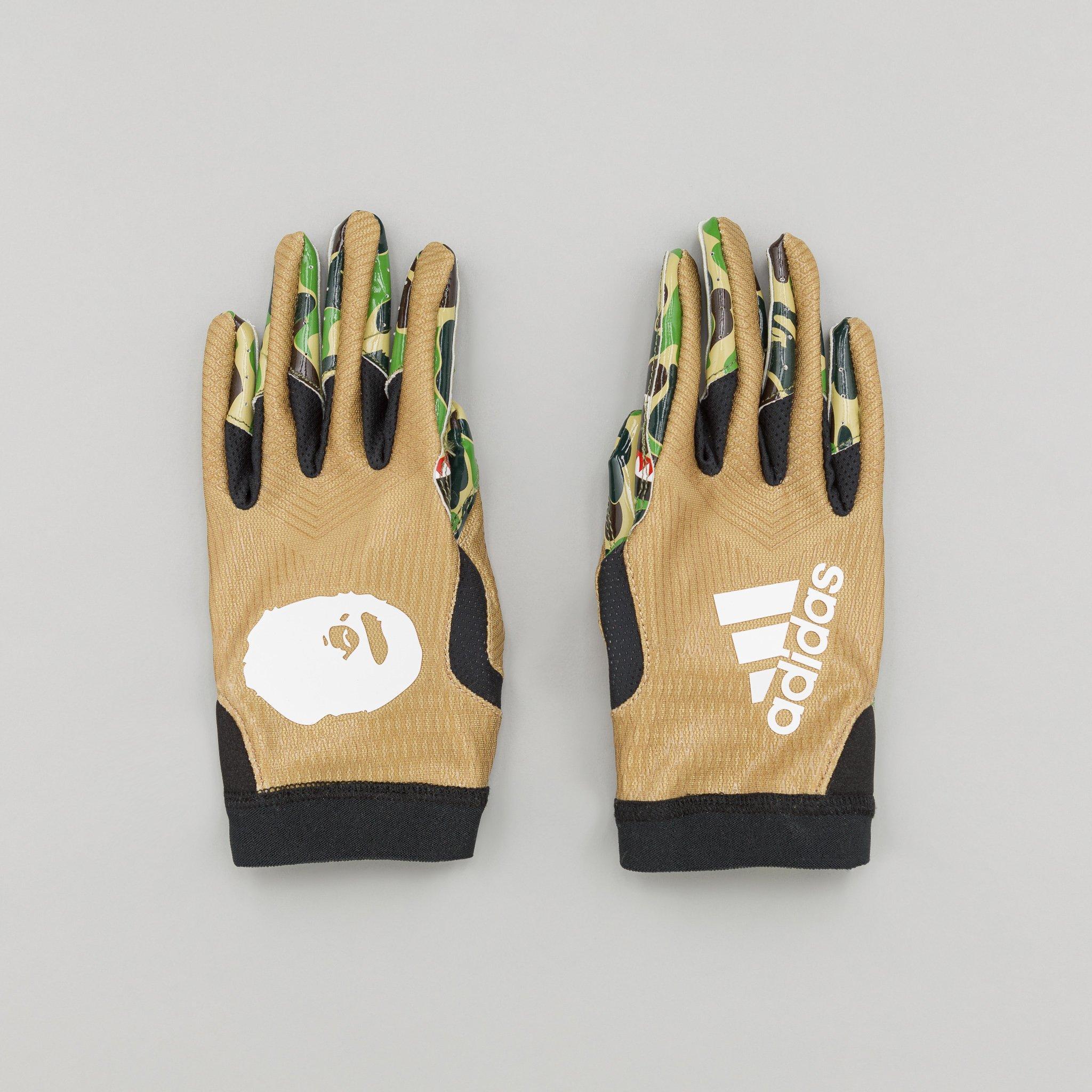 prezzo moderato prezzo favorevole stile alla moda Men's X Bape Adizero 8.0 Gloves In Camo Multicolor