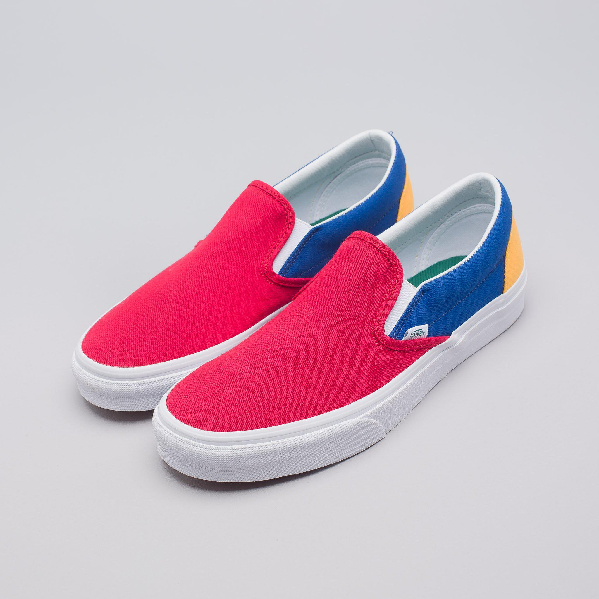 0762bf343a9ba3 Lyst - Vans Yacht Club Classic Slip-on In Red blue yellow in Blue ...