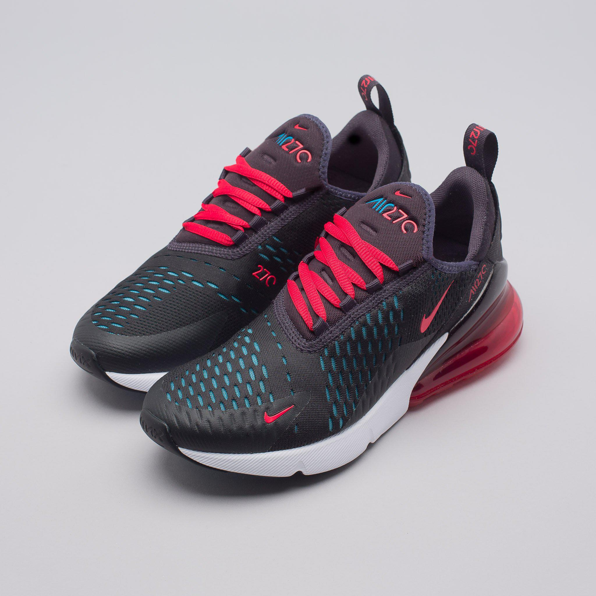 48ae4dcaba ... where to buy lyst nike womens air max 270 in oil grey speed red in red