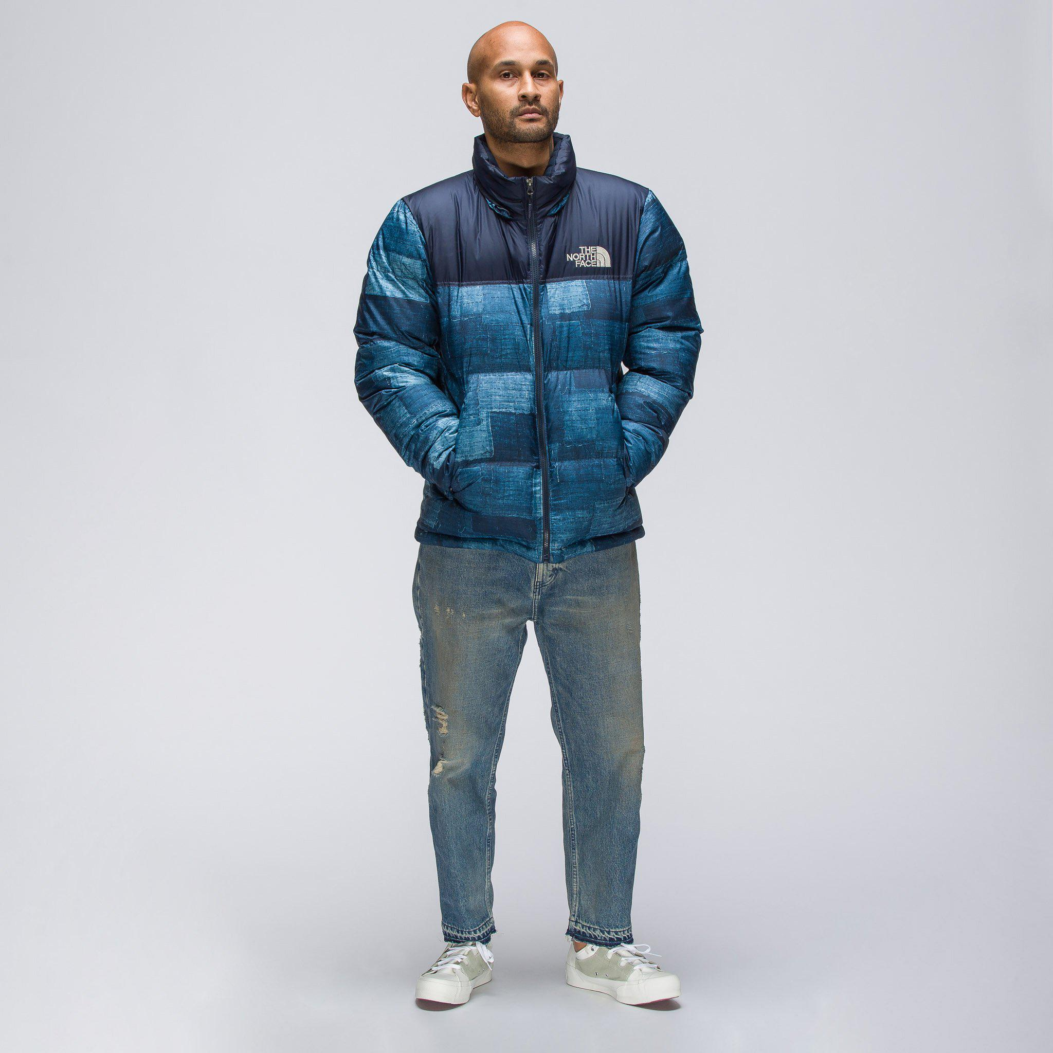7f4b7d6b4ef3 Lyst - The North Face Novelty Nuptse Jacket In Navy in Blue for Men