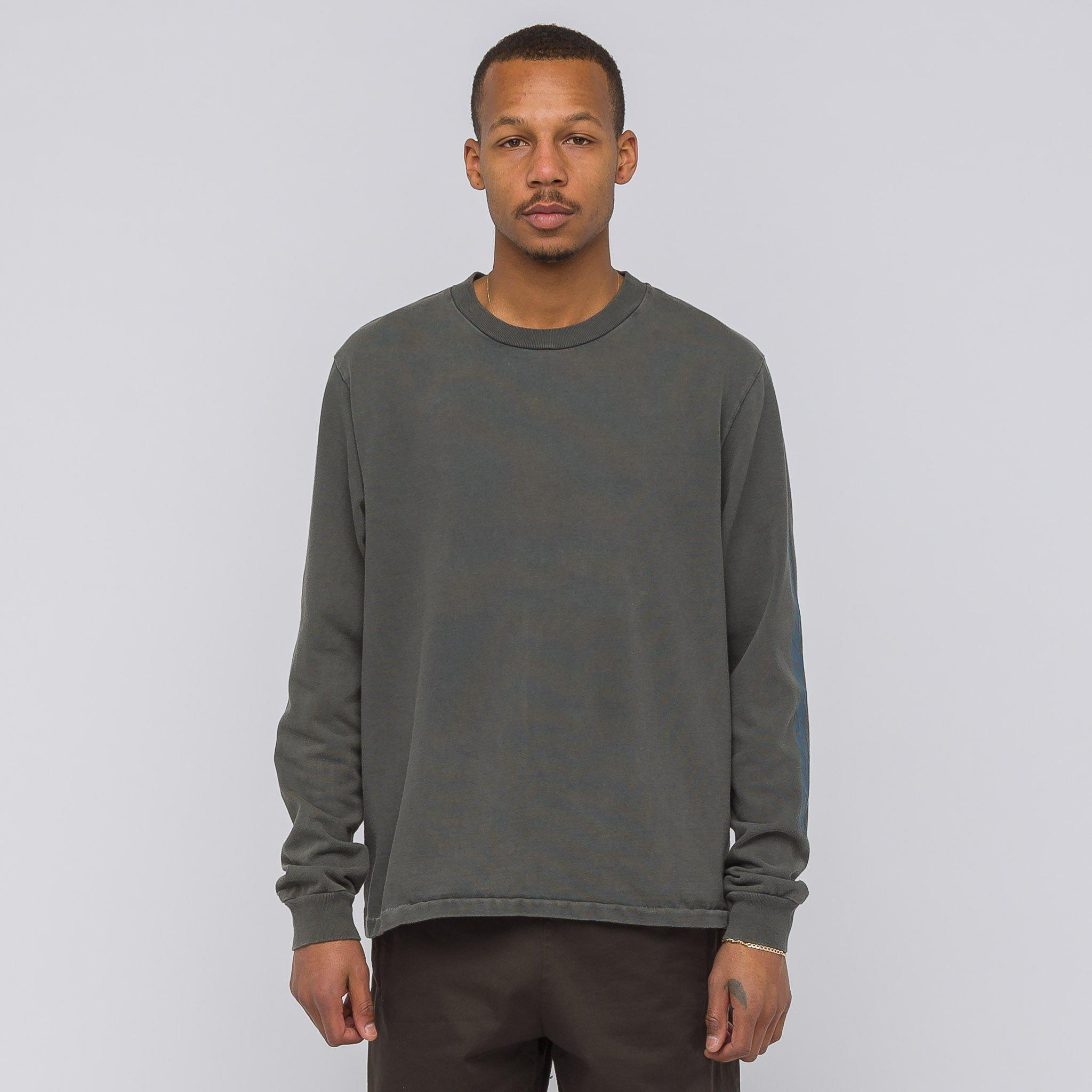 e33b5d3da Lyst - Yeezy Calabasas Long Sleeve T-shirt In Core Indigo in Gray ...