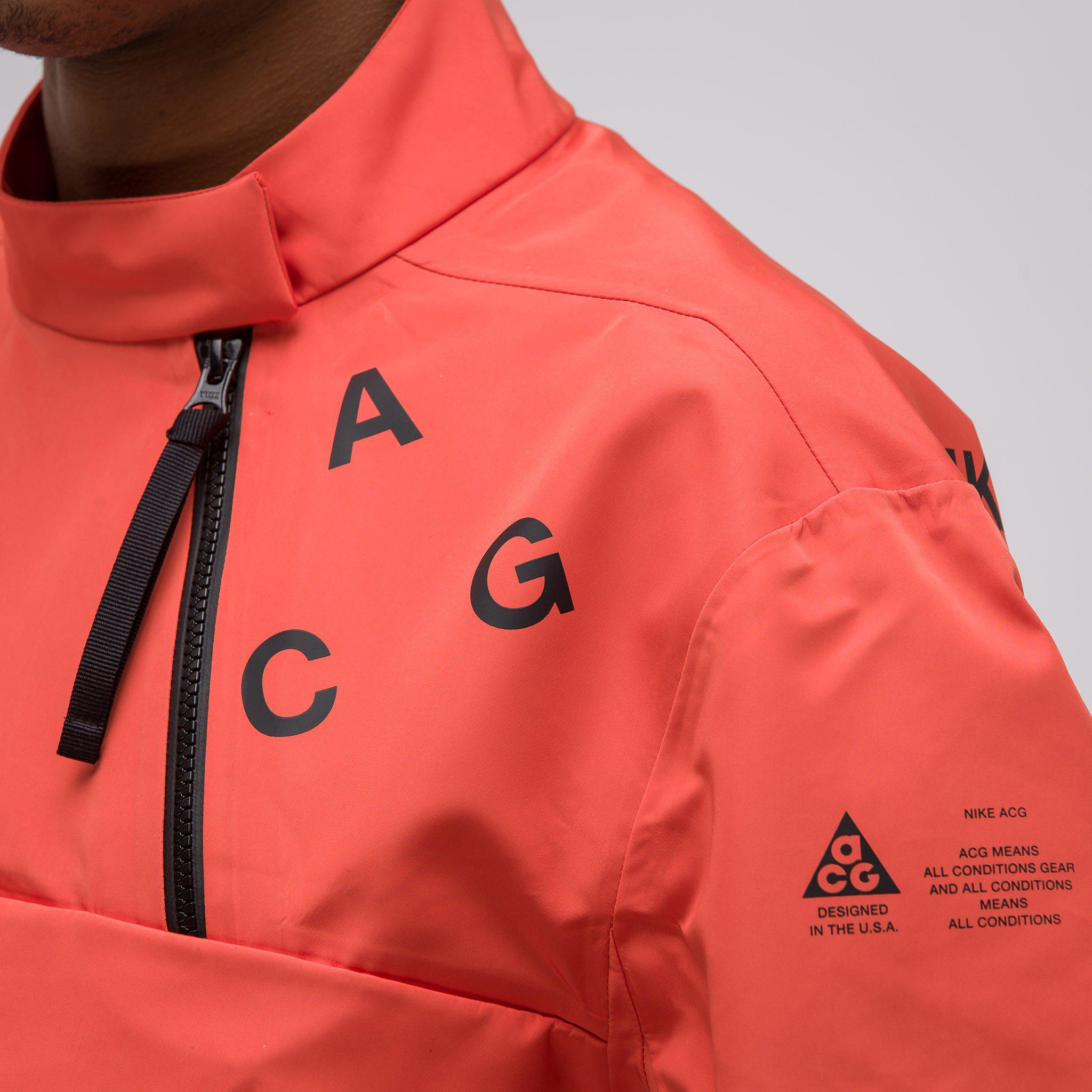 0a83afc060d5 Lyst - Nike Acg Pullover Shell Jacket in Orange for Men