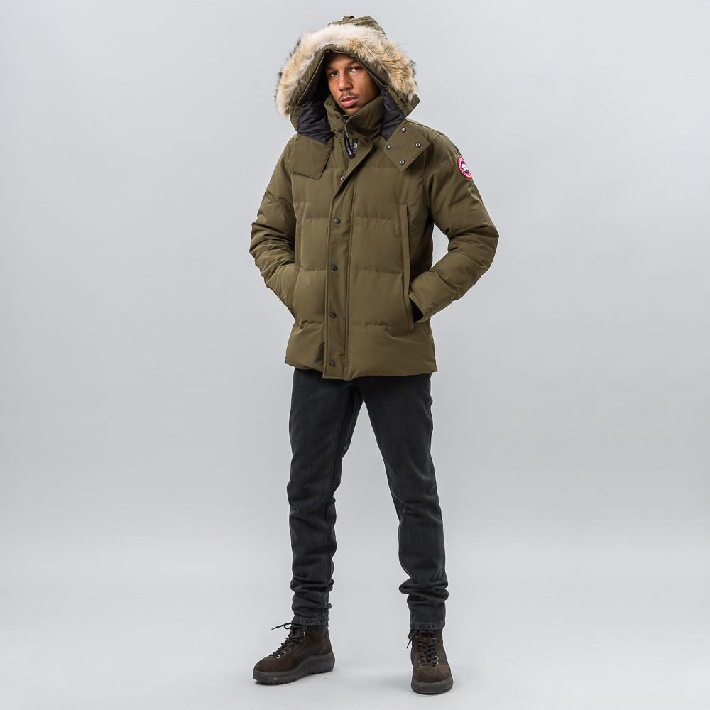 Lyst Canada Goose Wyndham Parka In Military Green In