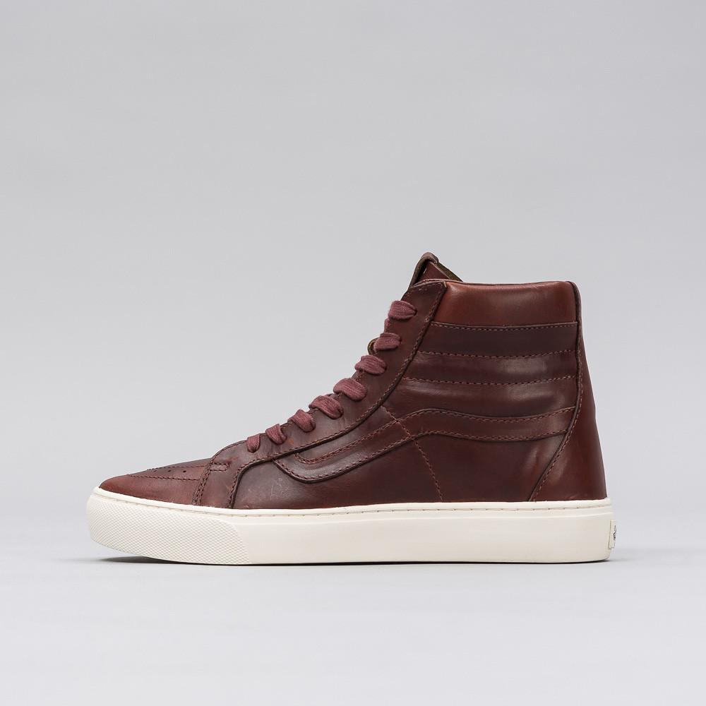 223e5aaba6 Lyst - Vans Sk8-hi Cup Lx In Timber Horween Leather in Brown for Men
