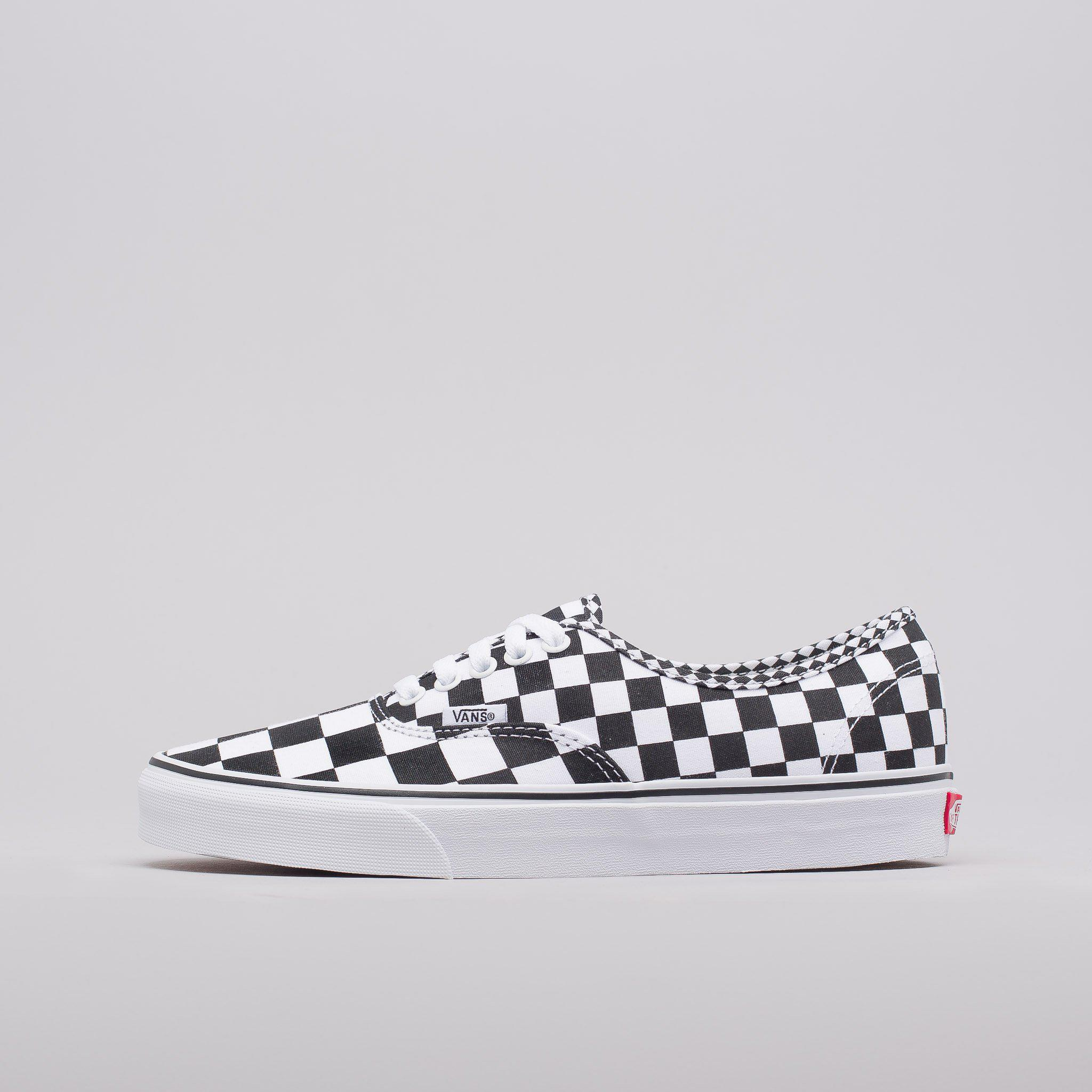 db2e8a59e89f Lyst - Vans Mix Checker Authentic Shoes in White for Men