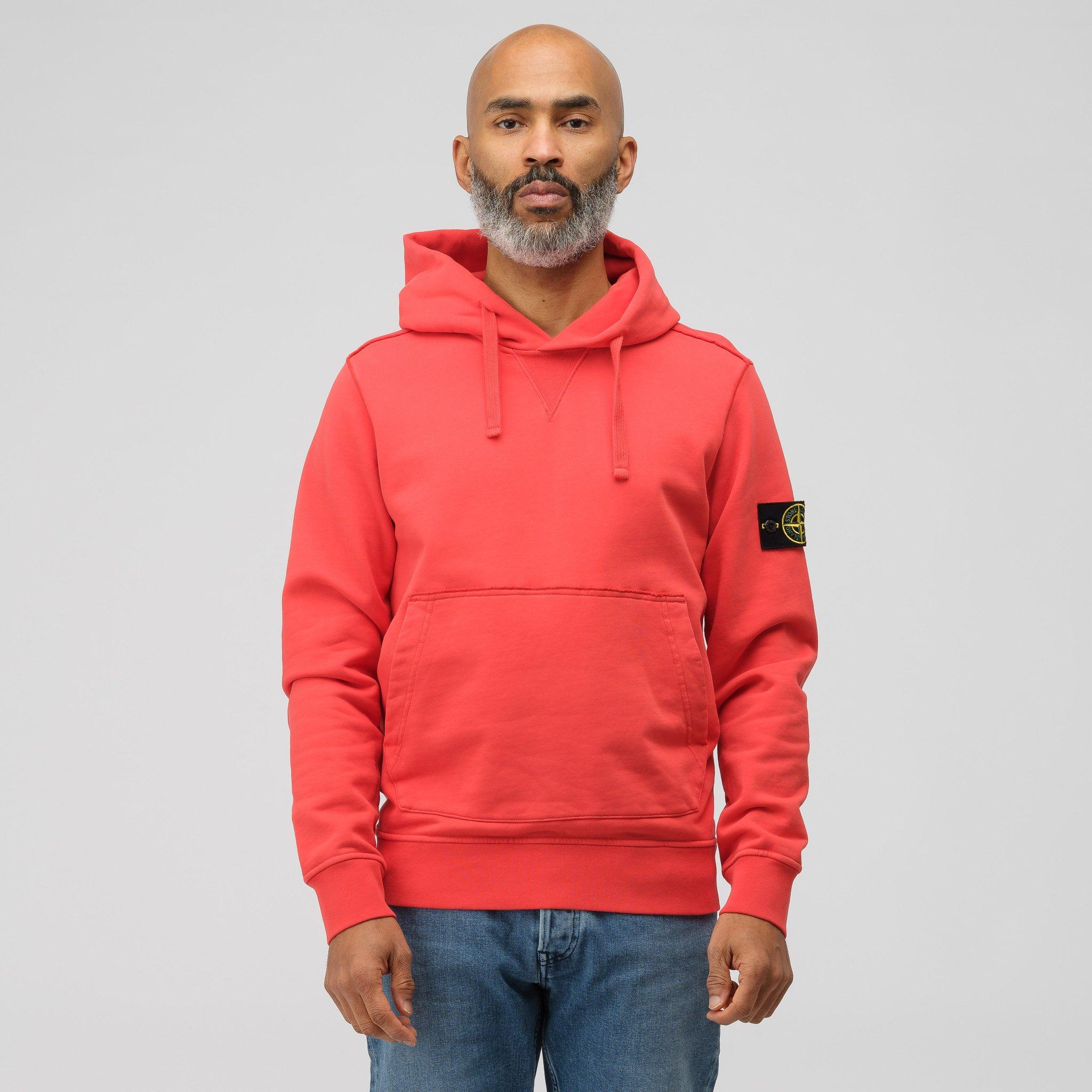 ac3d728dfce89 Lyst - Stone Island 62851 Pullover Hoodie In Red Orange in Red for Men