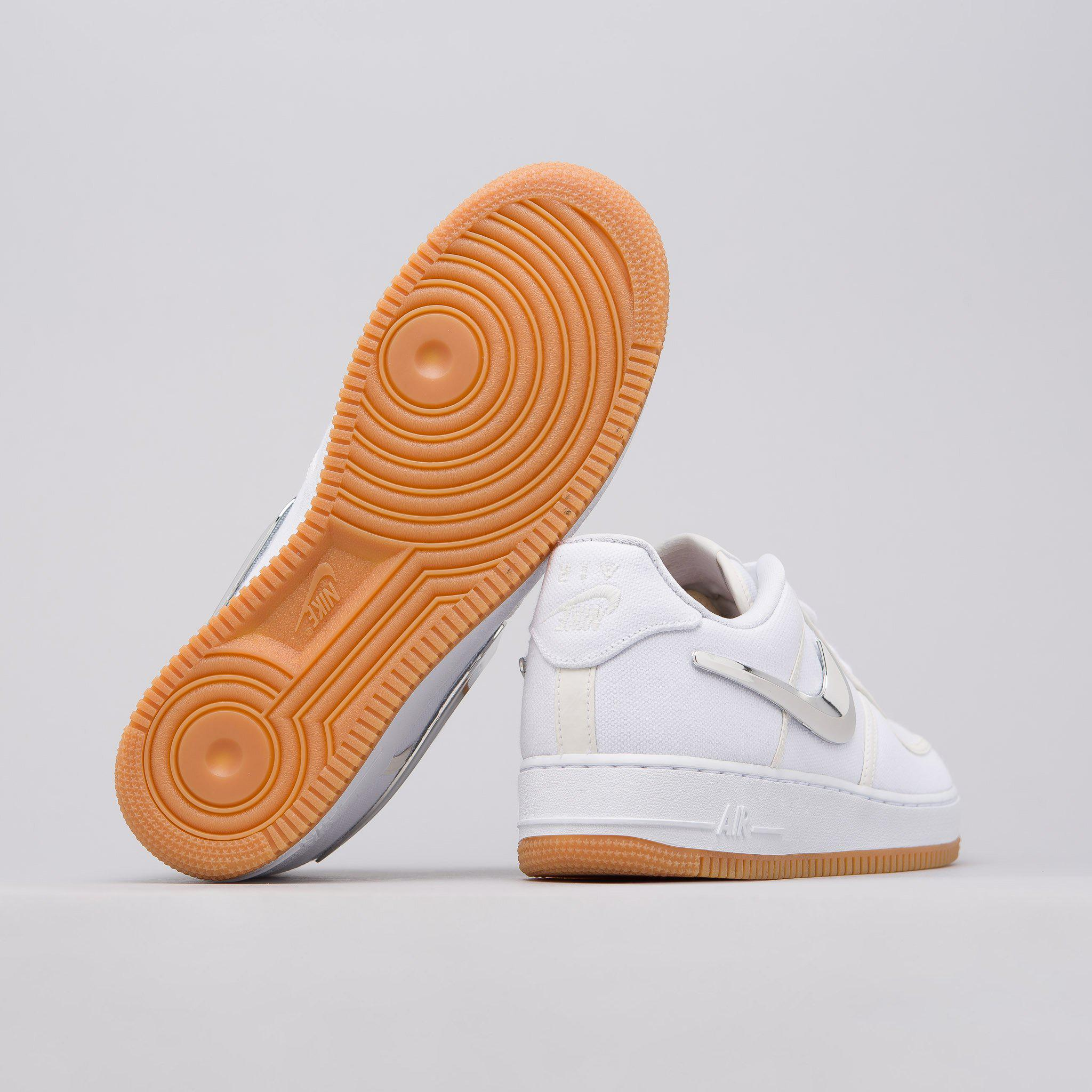 dca9b0b0047111 Nike X Travis Scott Air Force 1 Low In White in White for Men - Lyst