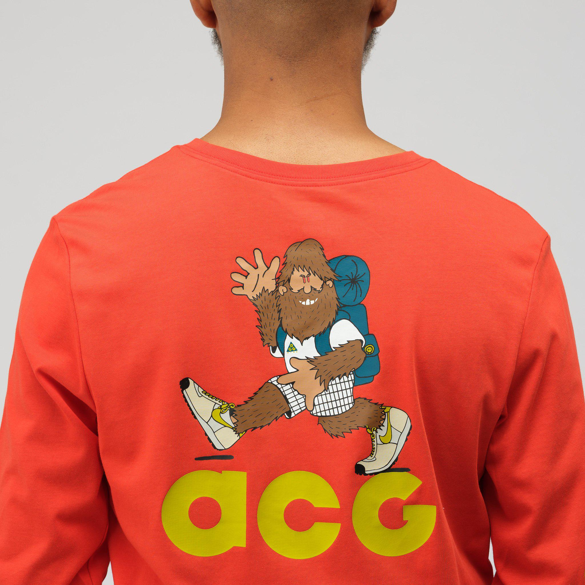 03556a73 Nike Acg Long Sleeve T-shirt In Habanero Red in Red for Men - Lyst