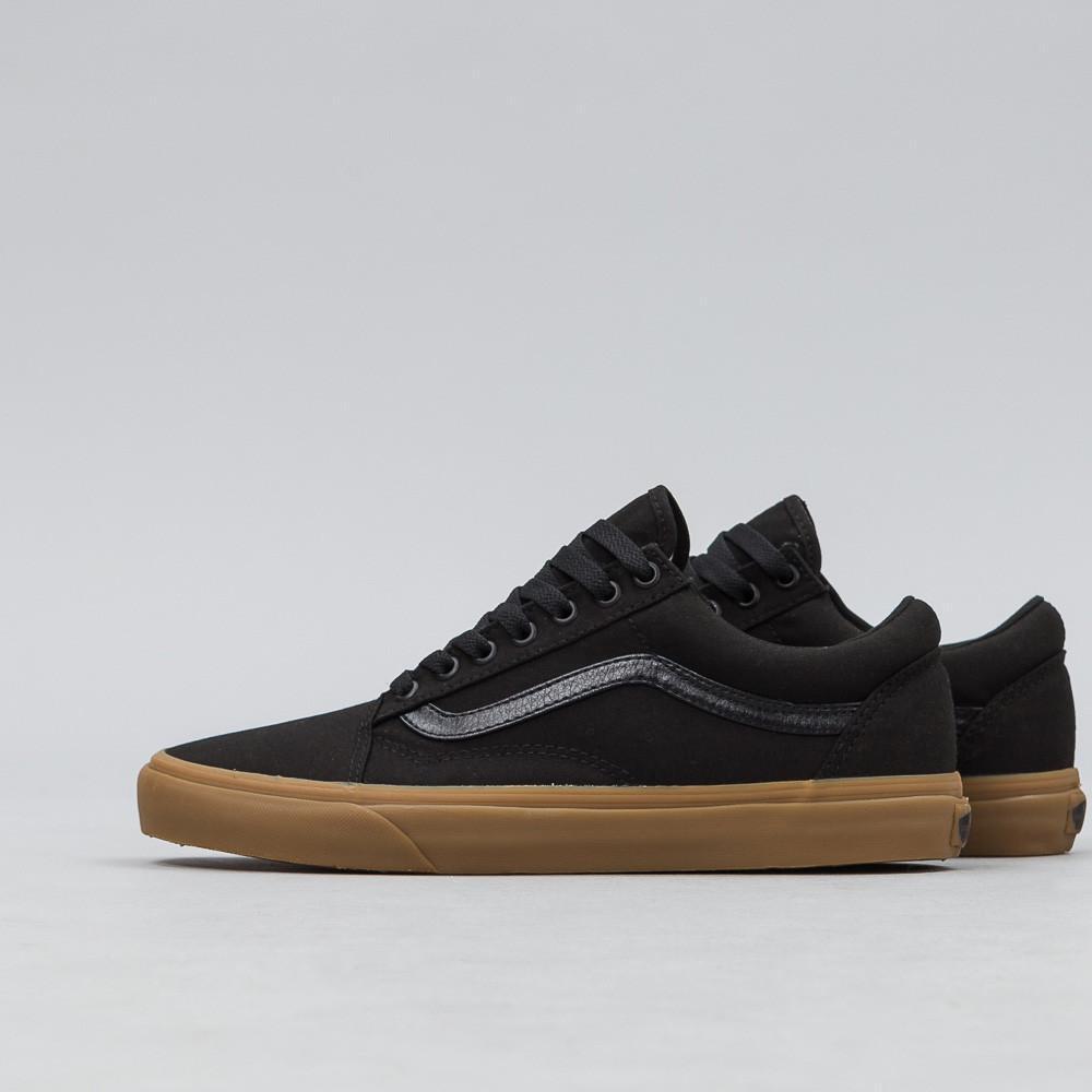 72402d731bda Lyst - Vans Canvas Gum Old Skool In Black in Black for Men