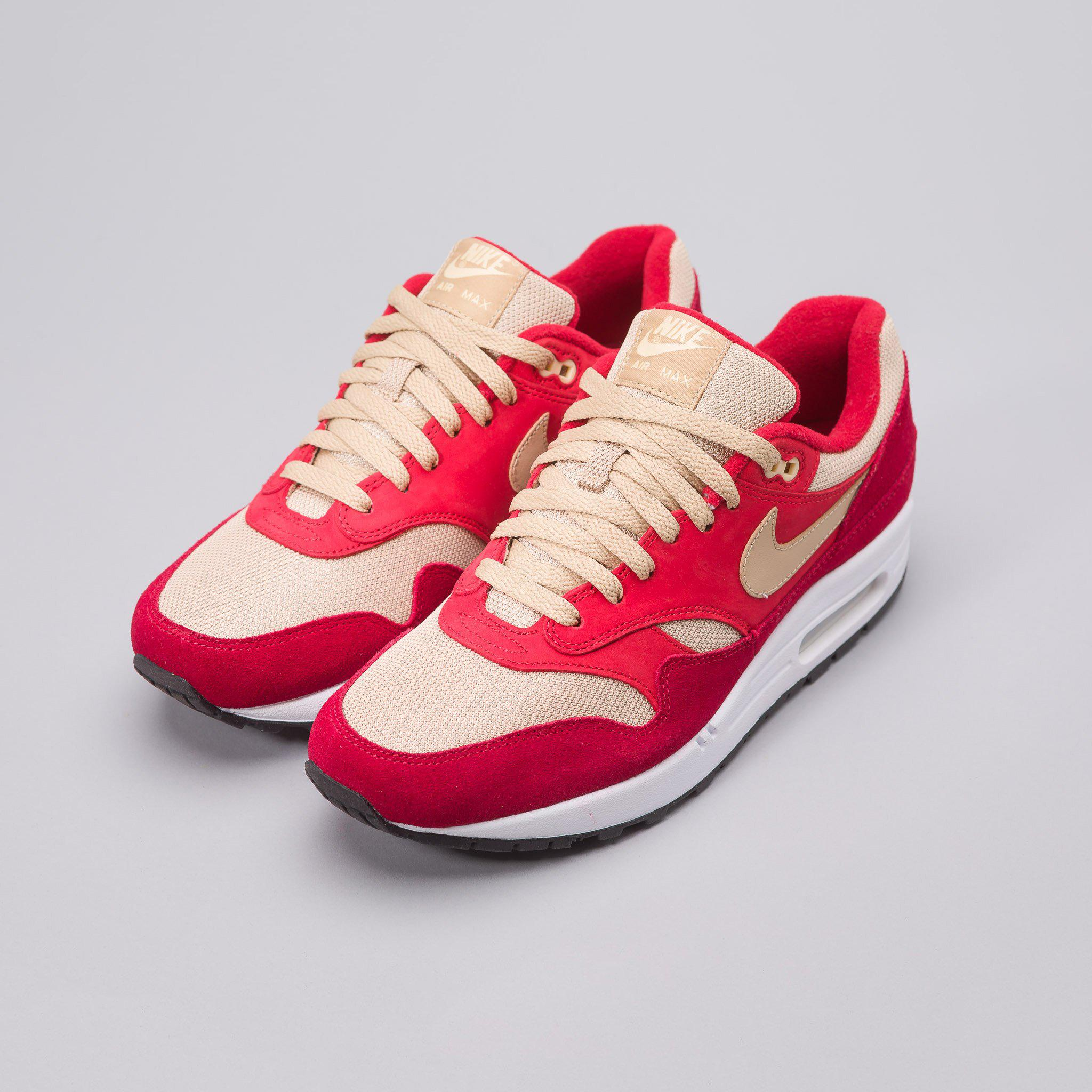 online store 5988b 269ed Lyst - Nike X Atmos Air Max 1 Premium Retro Red Curry in Red