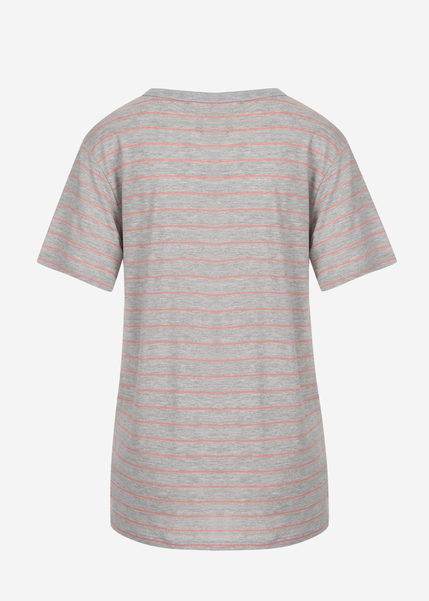 74ced7254674 T By Alexander Wang Thin Striped Slub Jersey S s Pocket Tee in Gray ...