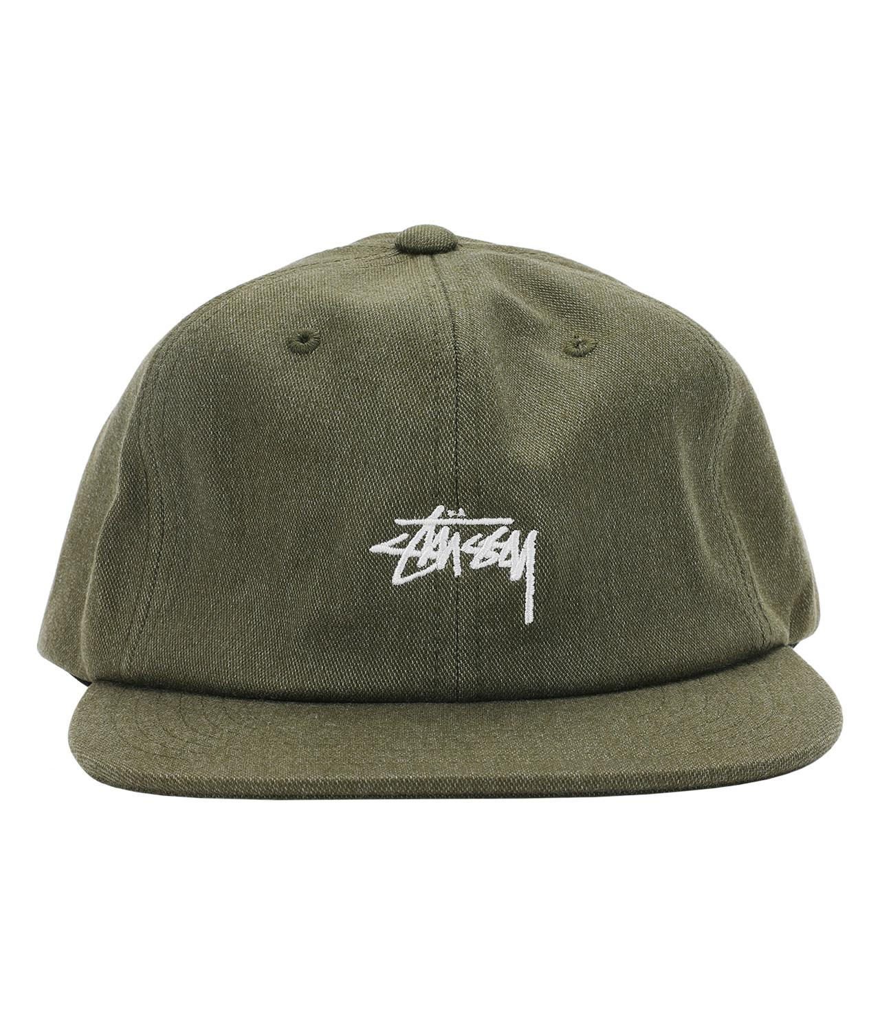 bbe8adfbd1d0d Lyst - Stussy Melange Denim Strapback Cap in Green for Men