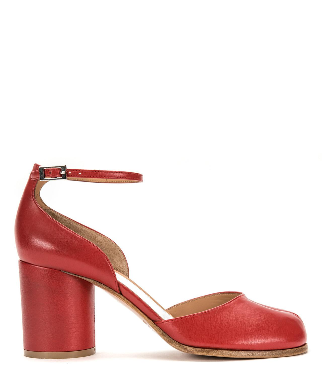 63168ea9f4d0 Maison Margiela Tabi Leather Ankle-strap Pump in Red - Lyst