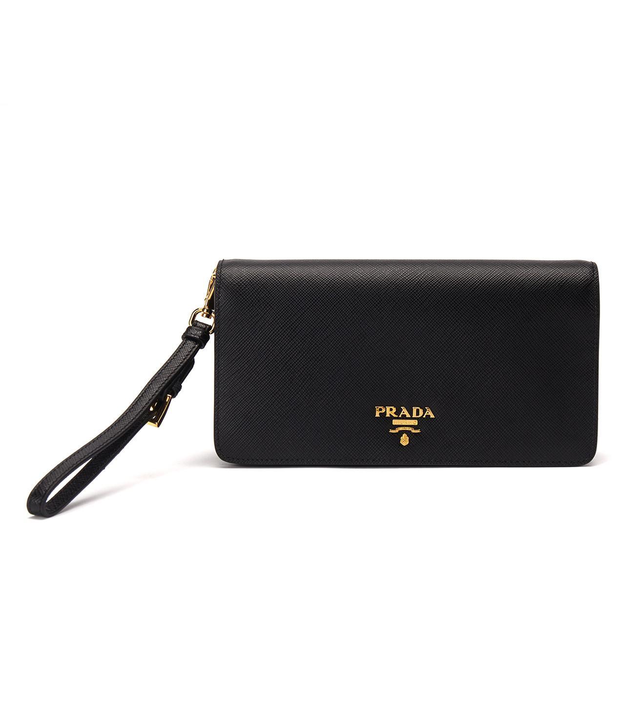 free shipping cd9cb b45d8 Lyst - Prada Smartphone Case in Black