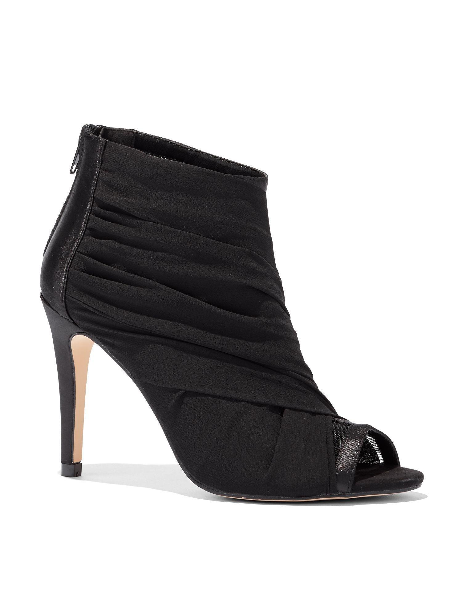 9203b83829e36 Lyst - New York   Company Black Mesh Open-toe Bootie in Black