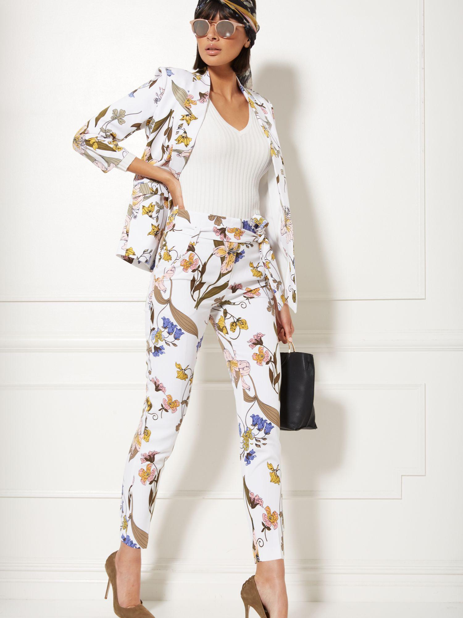 a05655f06e2 Lyst - New York   Company 7th Avenue - Tall Madie Pant - Floral in White