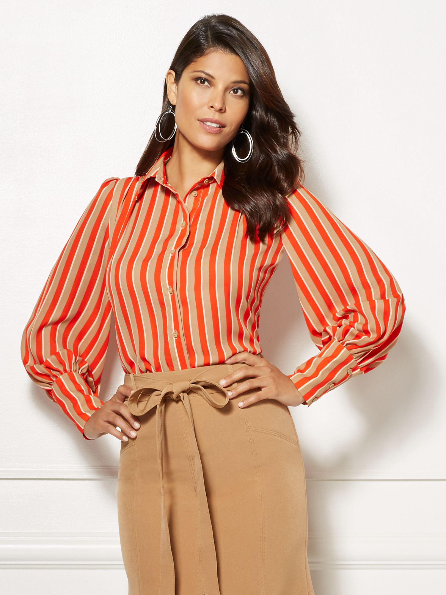43bb4fdd832a6 Lyst - New York   Company Eva Mendes Collection - Stripe Kelsey ...