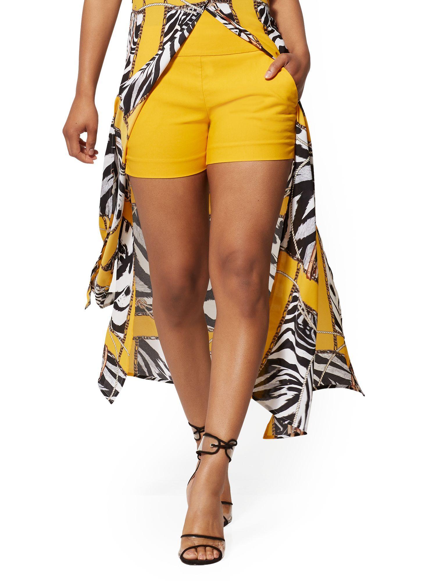 4c9cbe767c New York & Company. Women's Orange Whitney High-waist Pull On 4 Inch Short
