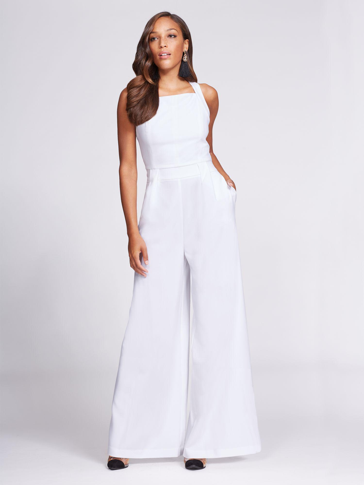 Lyst New York Company Gabrielle Union Collection Jumpsuit In White