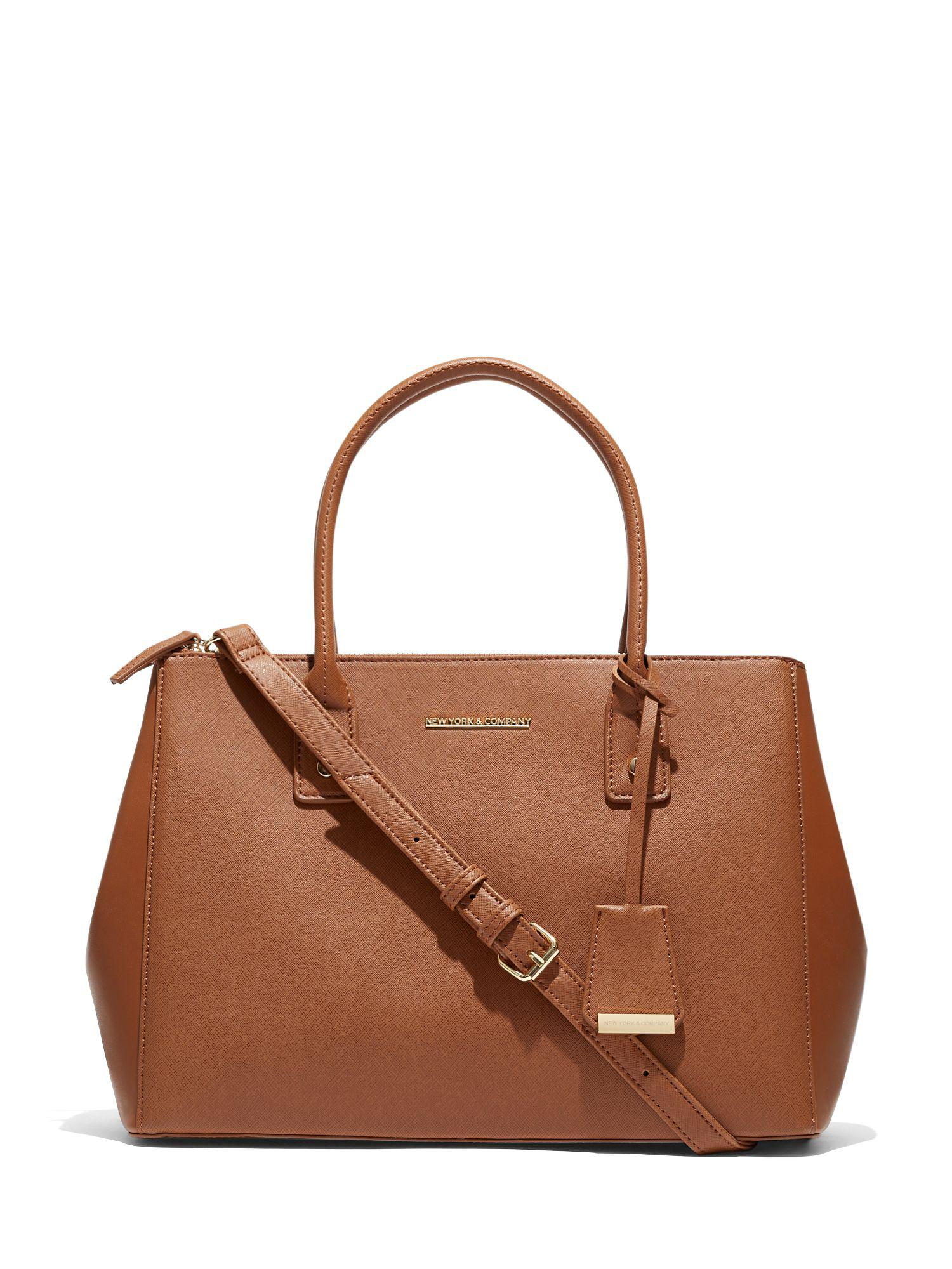 New York Company Brown Gramercy Collection Large Satchel Lyst View Fullscreen