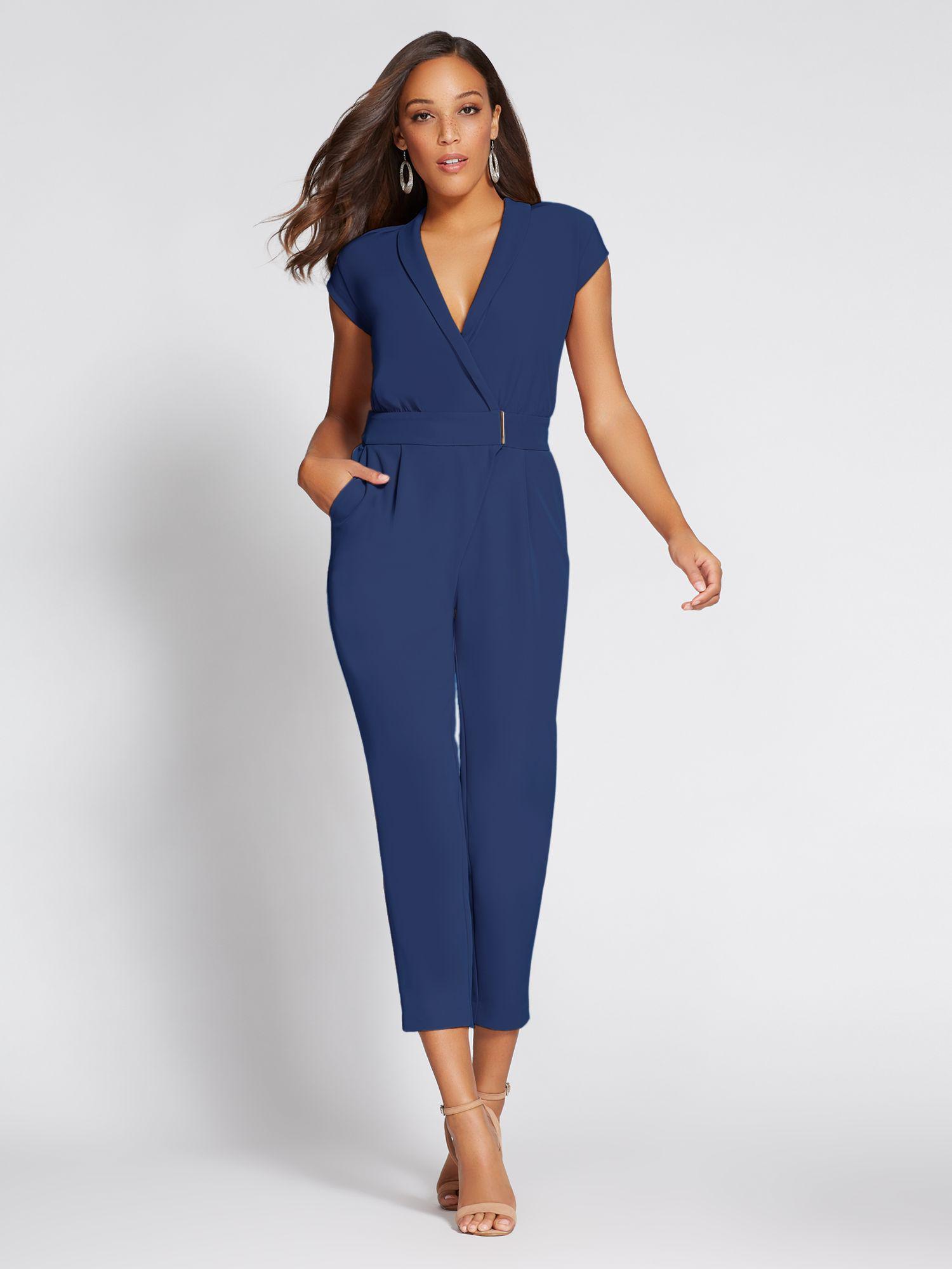 e8897eeeb9df Lyst - New York   Company Gabrielle Union Collection - Wrap Jumpsuit ...