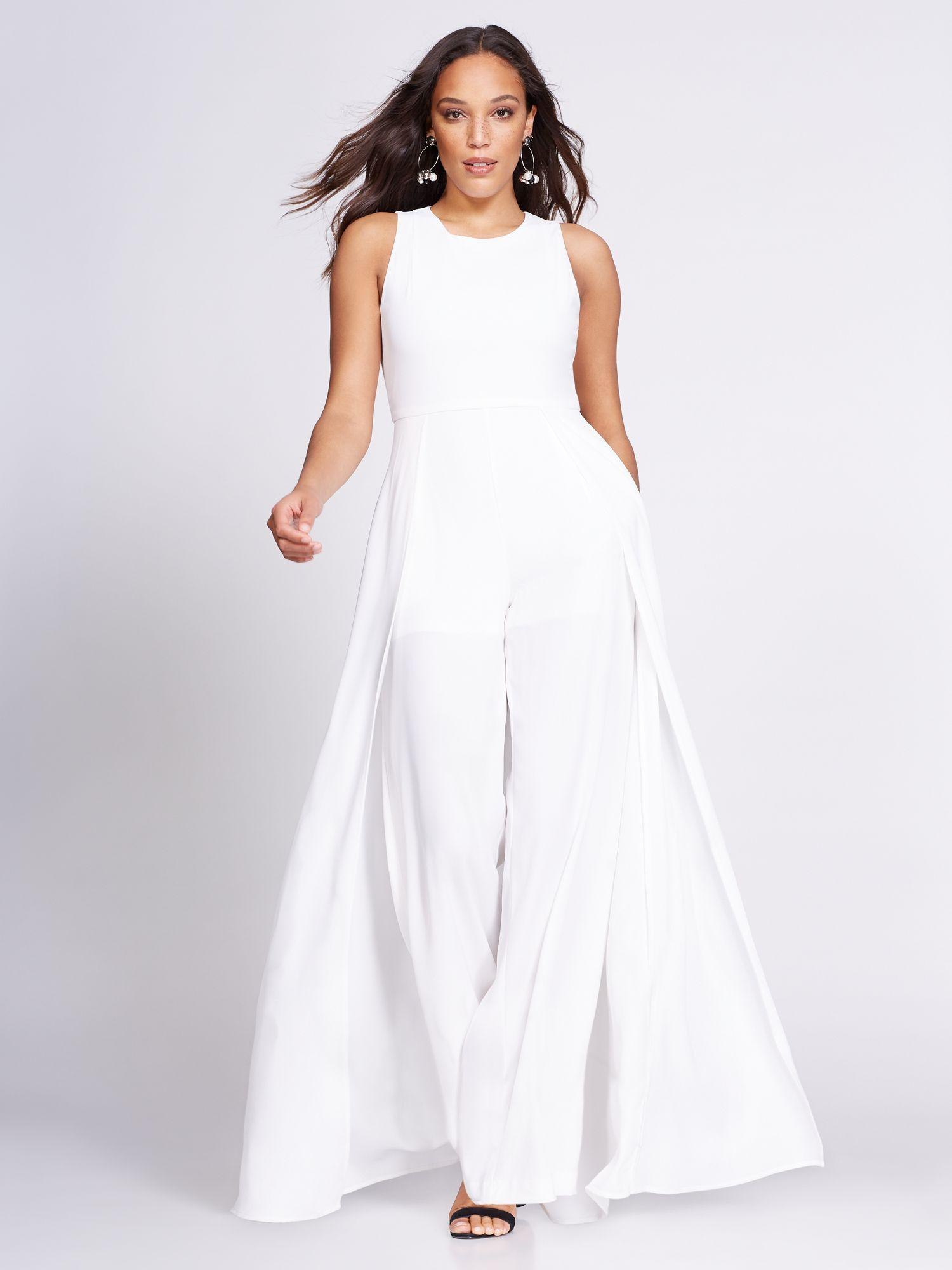 4cc6aabbe18 New York   Company. Women s White Gabrielle Union Collection - Overlay  Jumpsuit