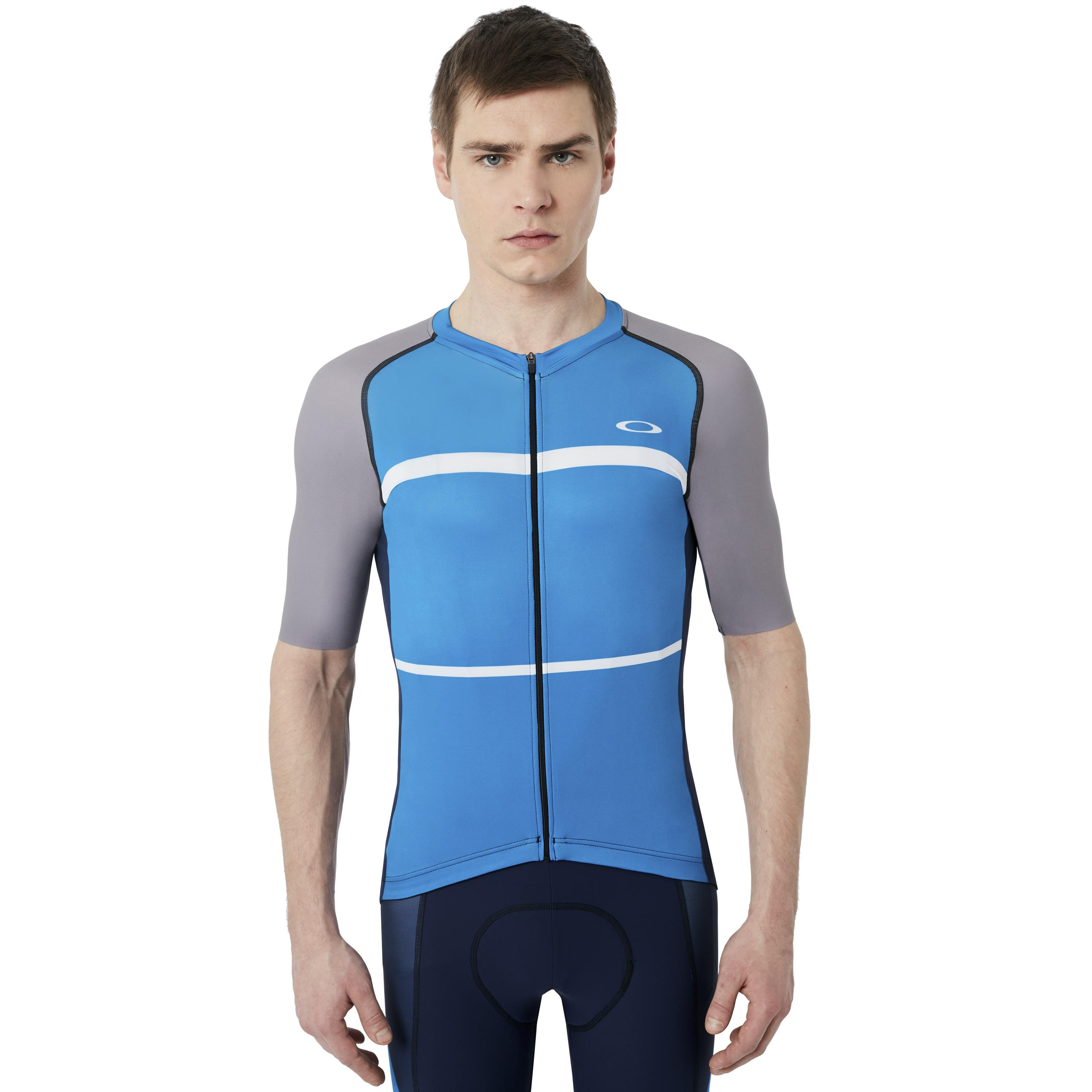 Lyst - Oakley Colorblock Road Jersey in Blue for Men 0593382e2