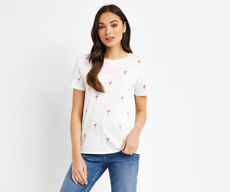 1641e3a2d213 Oasis Glitter Flamingo Tee in White - Lyst