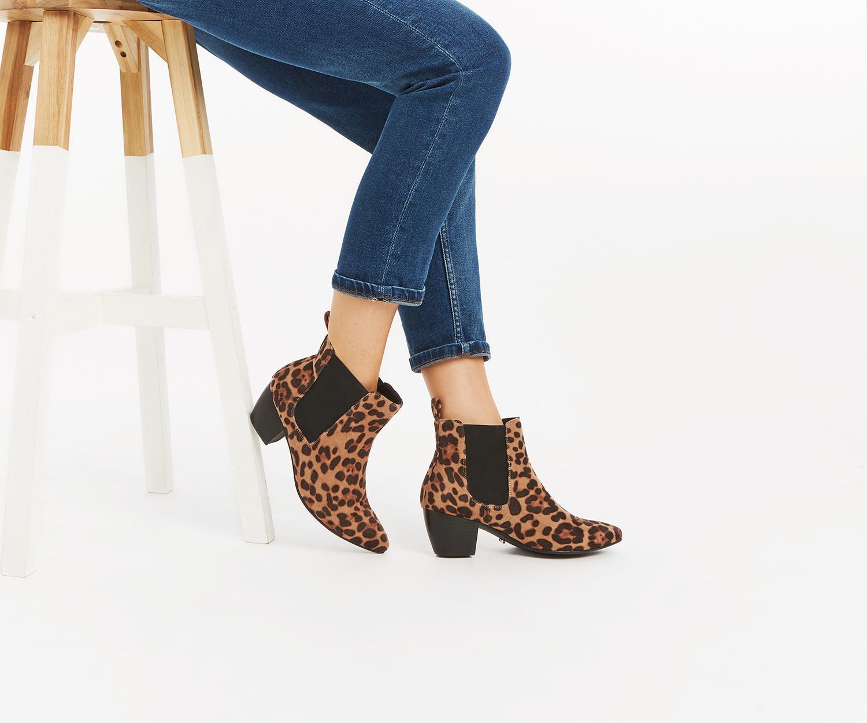 0e5f2ee30049 Oasis Camilla Cuban Heel Boot - Lyst