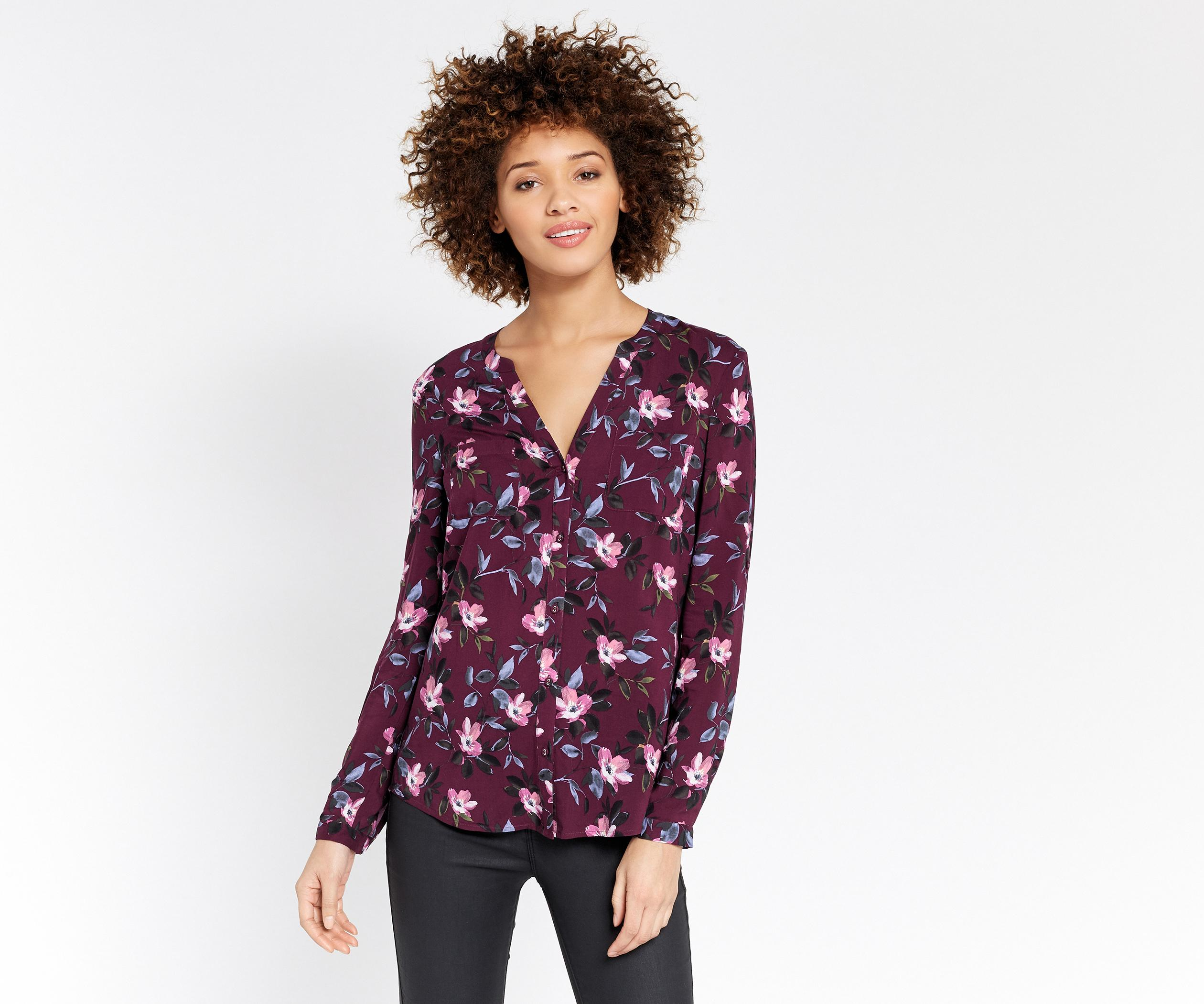 abad7fcdb30 Oasis Painted Rose Collar Shirt in Purple - Lyst