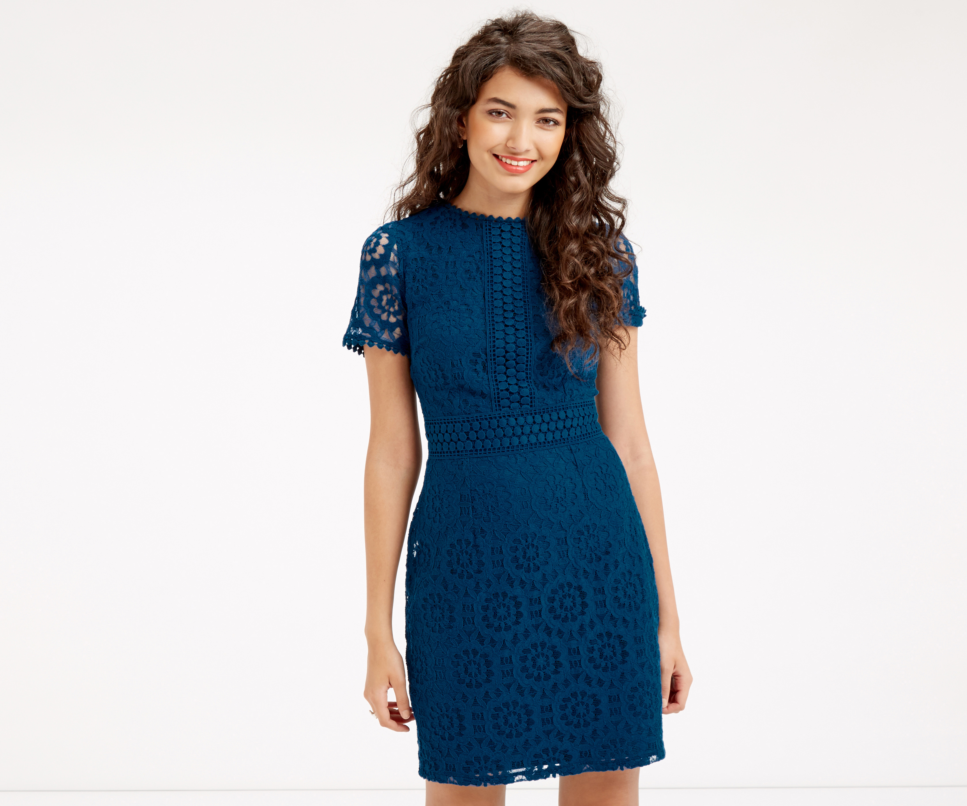Oasis Lace Shift Dress Teal Green Lyst