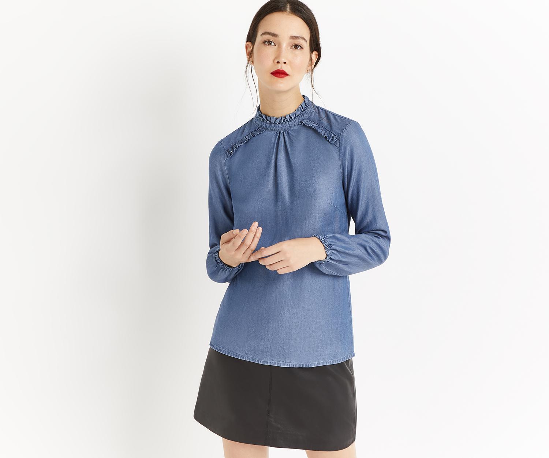 3d17fd58dc8d41 Oasis Prairie Frill Shirt in Blue - Lyst