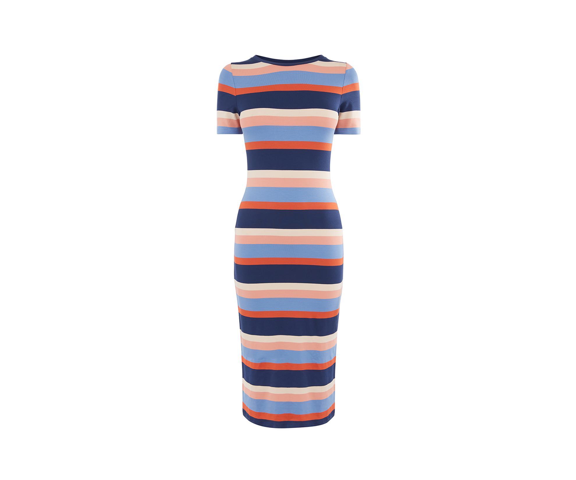 10addf062a5d Lyst - Oasis Stripe Tube Dress in Blue