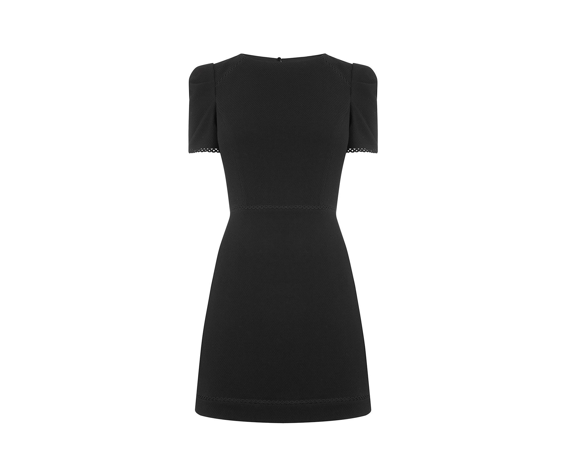 6beb18e7af6e Oasis Long Circle Trim Dress in Black - Lyst