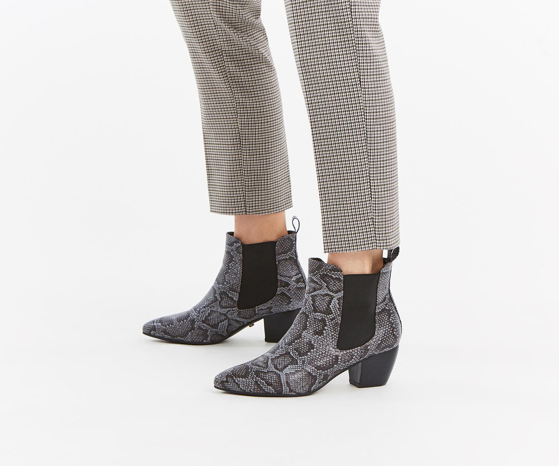 9875ef40c31b Oasis Camilla Cuban Heel Boot in Gray - Lyst
