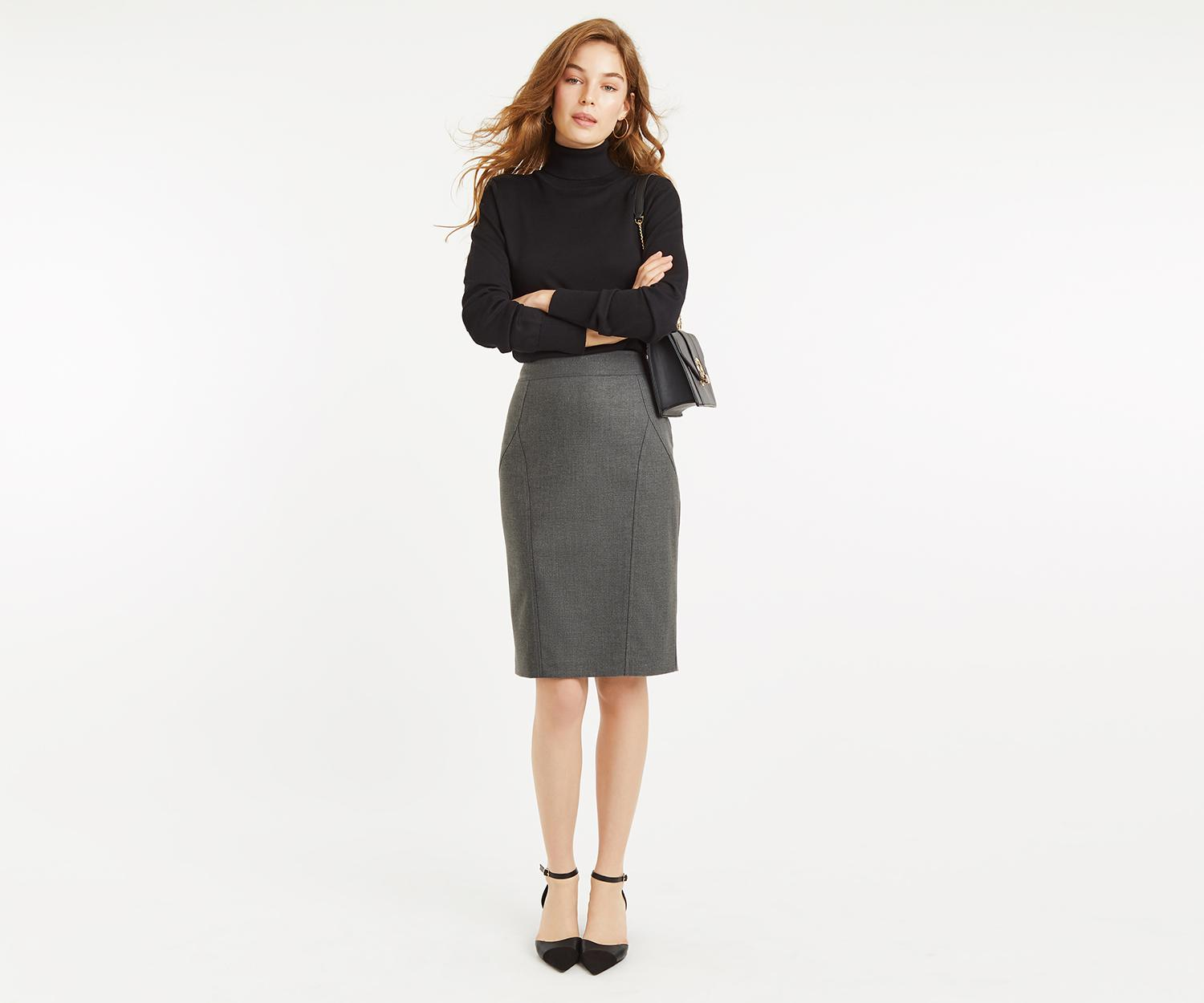 7737ccc8f Oasis Pencil Skirt in Gray - Lyst
