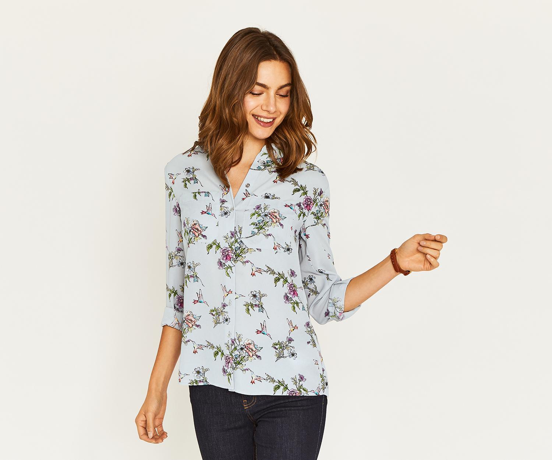 93d9e5beb56d Oasis Silk Floral Print Blouse | Lauren Goss