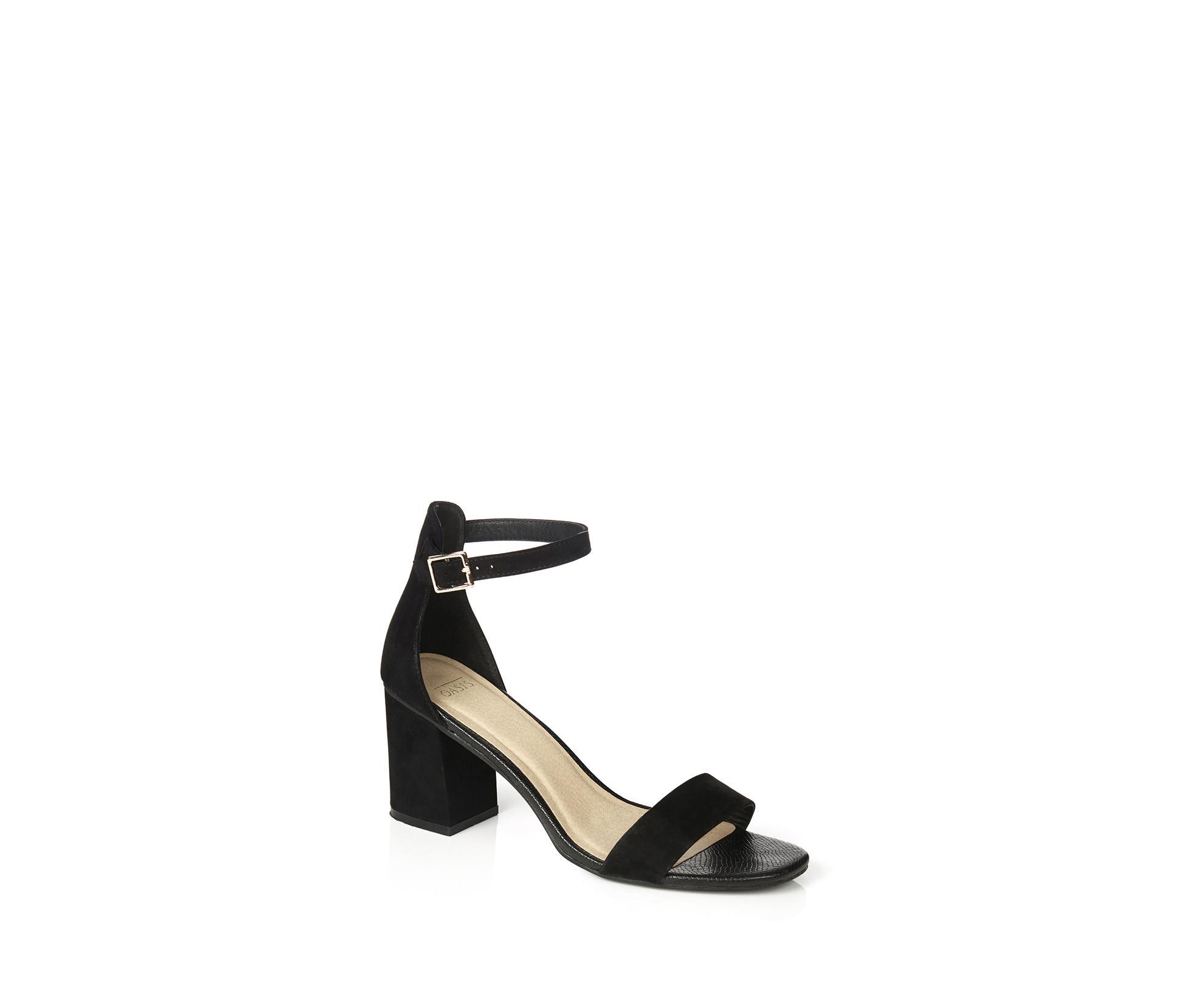 b608d0bad5d Lyst - Oasis Rhea Block Heel in Black