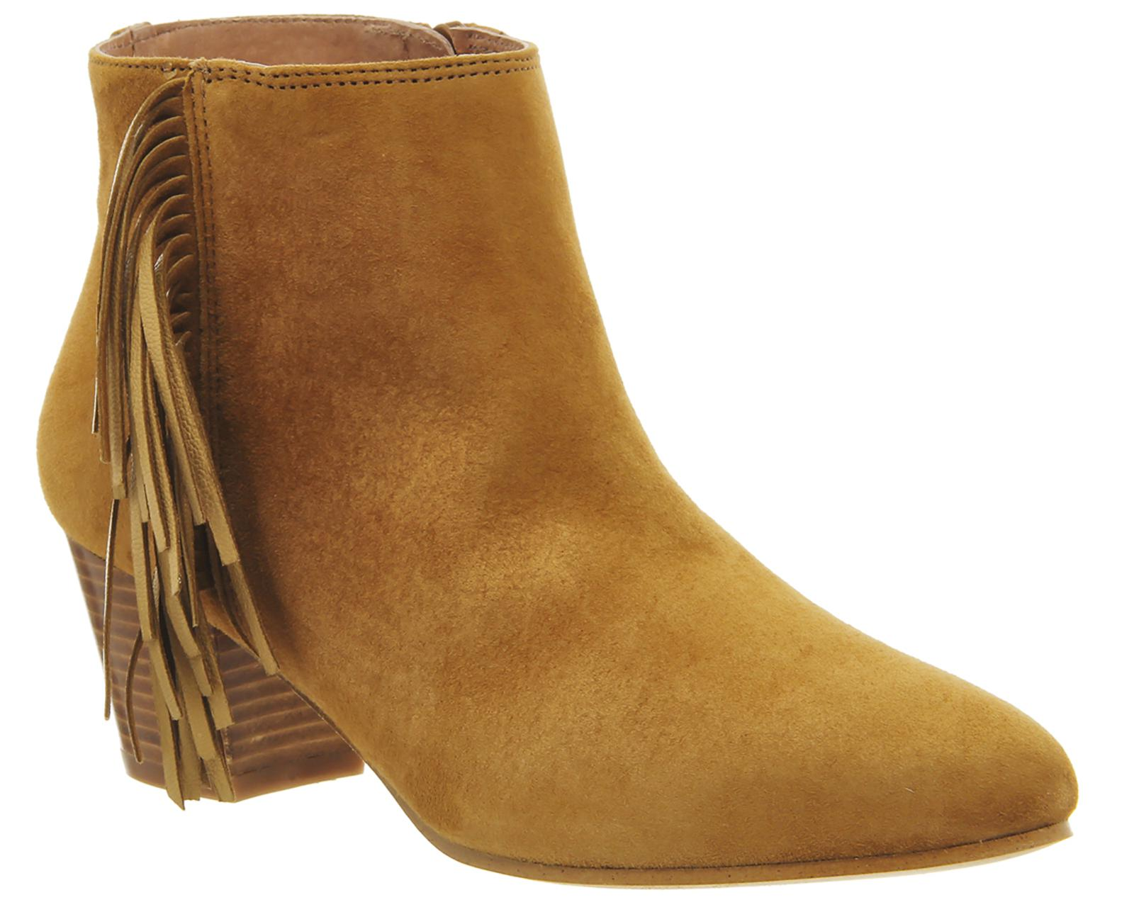 3150d29204980 Office Idaho Fringe Ankle Boots in Brown - Lyst