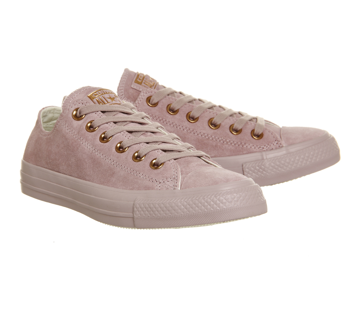 converse all star low leather in pink lilac lyst. Black Bedroom Furniture Sets. Home Design Ideas