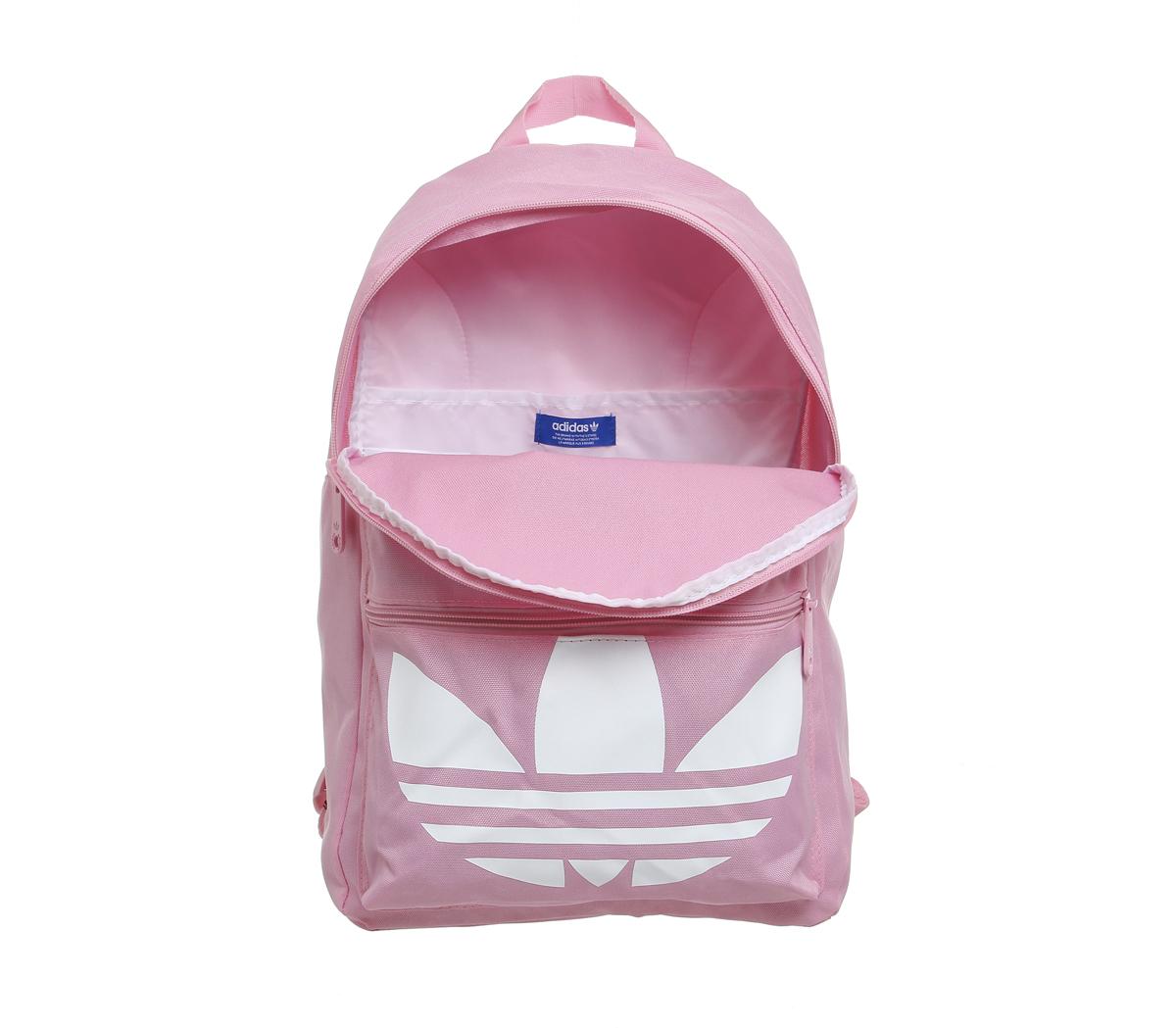 81da78257c05 Lyst - adidas Originals Trefoil Canvas Backpack in Pink