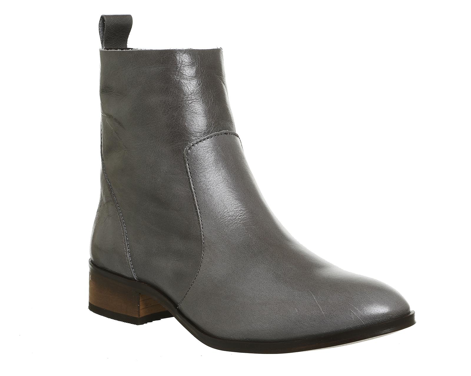 office ashleigh flat ankle boots in gray lyst
