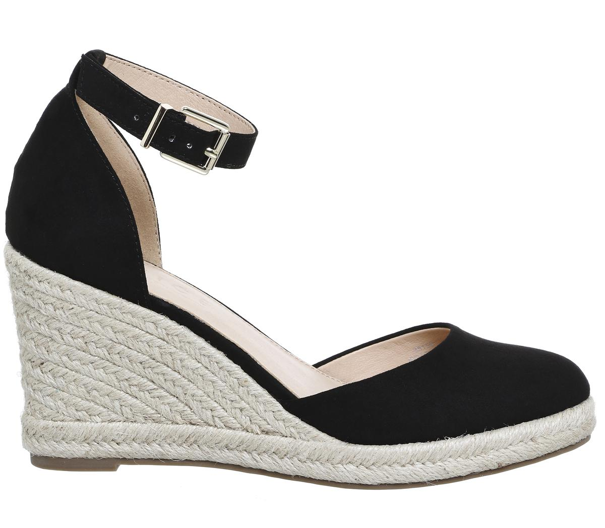 7ba2a34a8514 Lyst - Office Marsha Closed Toe Espadrille Wedges in Black